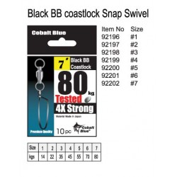 Black Ball Bearing Snap Swivel