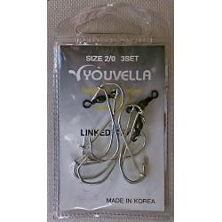 Youvella Gang Hook 3 sets Prepac