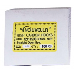 Youvella Gang Hook Bulk pac Box 100 Straight Open Eye