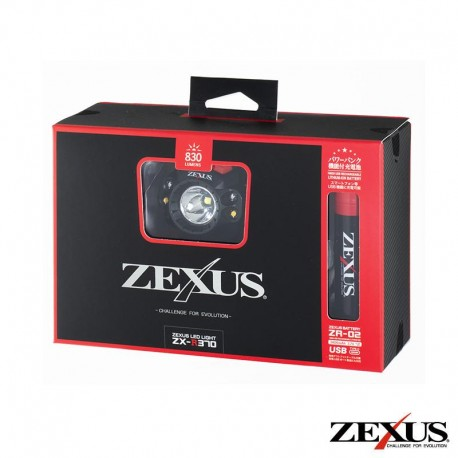 ZEXUS ZX-R370 830 LUMIN RECHARGEABLE HEADLAMP