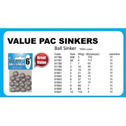 Value Pack Sinker Ball