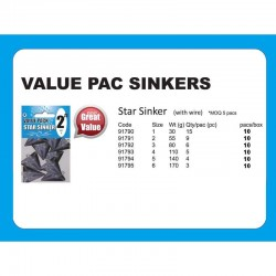 Value Pack Sinker Star