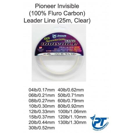 Pioneer Invisible Fluro Carbon Leade 25m