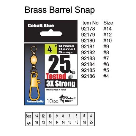 Brass Barrel Snap Swivel