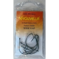 Youvella Chemically Sharpened Hook Wide Gap
