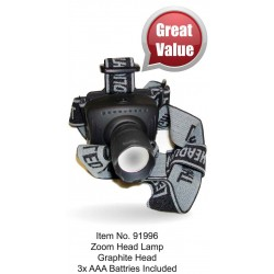 Zoom Head Lamp Plastic 1W
