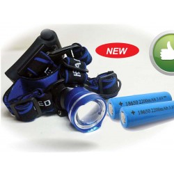 Super bright T6 Headlamp w/18650 batteries-rechargable