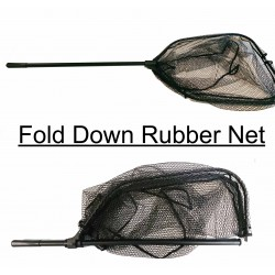 Foldable Snapper/Barra Net W/Rubber Mesh